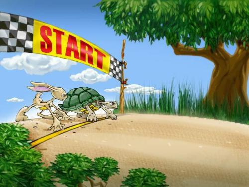 亲子互动游戏剧《龟兔赛跑》