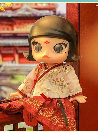 泡泡玛特 中国风粉裙/红裙手办