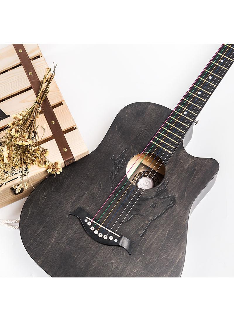 安德鲁ANDREW 民谣吉他单板木吉它