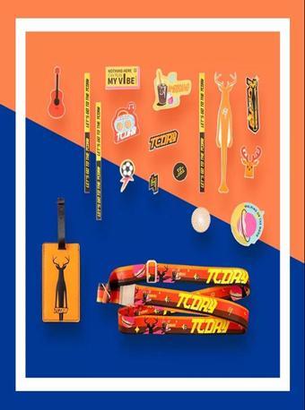 【限量发售】鹿晗三巡演唱会周边行李带&行李牌&贴纸三件套