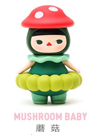 拆袋泡泡玛特毕奇泡泡圈蘑菇