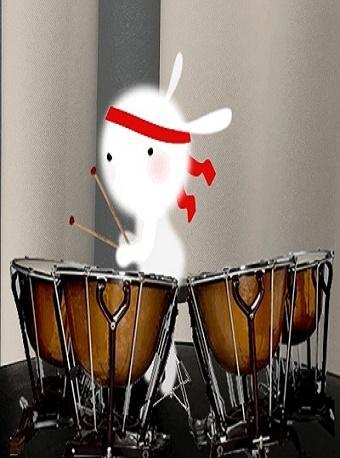 兔小白和小胡子老师的音乐之旅