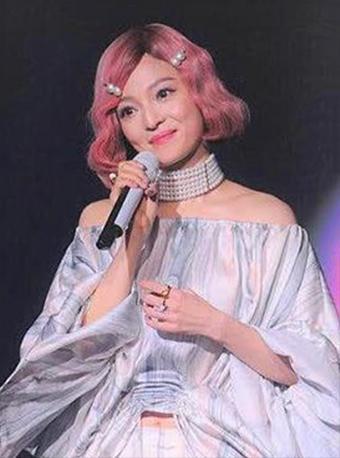 张韶涵同款一粒珍珠发卡