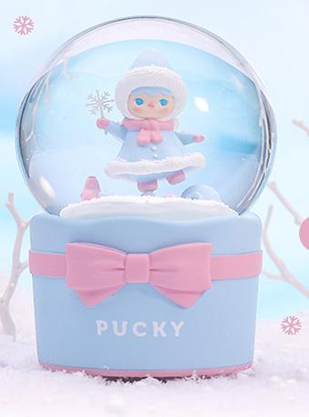 泡泡玛特毕奇精灵雪宝宝音乐水晶球