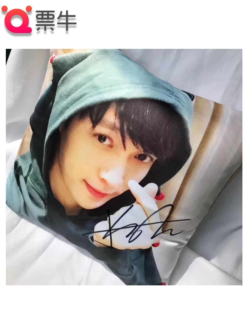 张艺兴亲笔签名抱枕