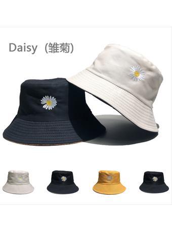 权志龙雏菊刺绣双面渔夫帽