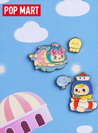 泡泡玛特精灵气球宝宝系列徽章盲盒胸针