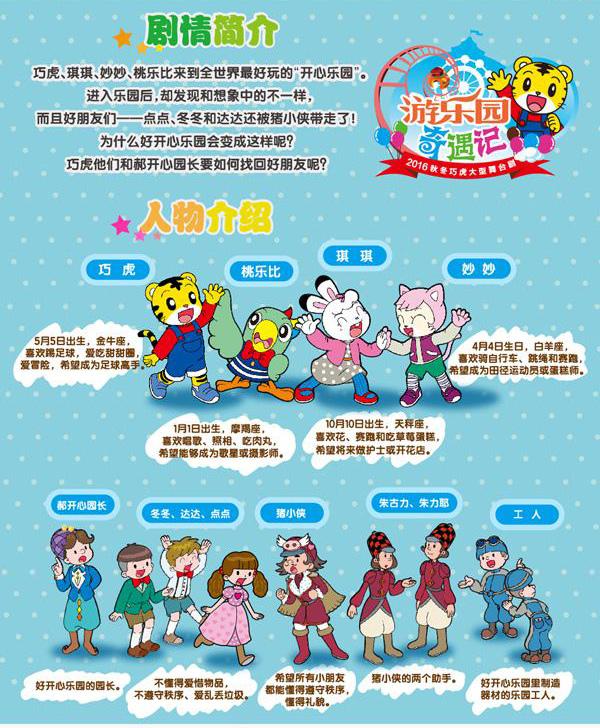 2016年秋冬巧虎大型舞台剧《游乐园奇遇记》深圳站