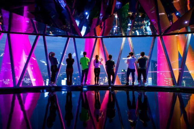 廣州塔428米433米星空觀光大廳